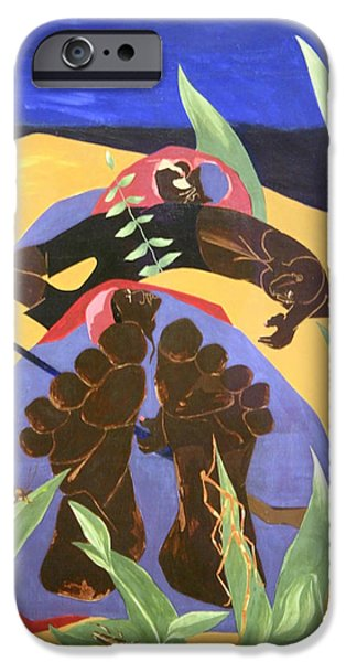Jacob Lawrence iPhone Cases - Lawrences Daybreak -- A Time To Rest iPhone Case by Cora Wandel