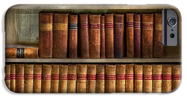 Bookcase iPhone Cases - Lawyer - Books - Law books  iPhone Case by Mike Savad