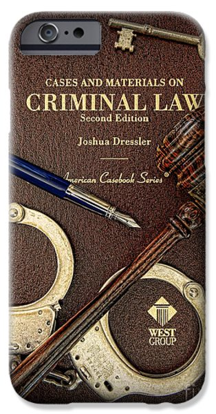 Constitution iPhone Cases - Lawyer - Criminal Law iPhone Case by Paul Ward