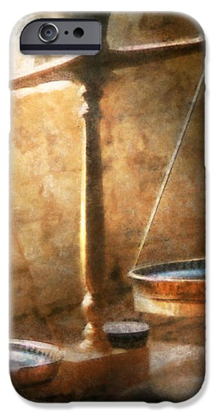 Lawyer - Scale - Balanced law iPhone Case by Mike Savad