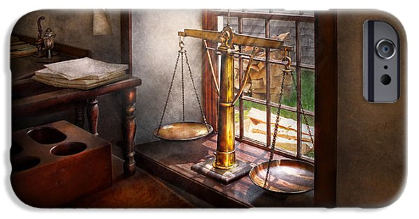 Hdr iPhone Cases - Lawyer - Scales of Justice iPhone Case by Mike Savad