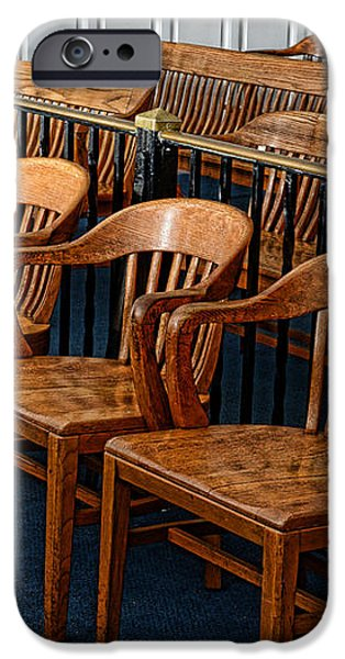 Lawyer - The Courtroom iPhone Case by Paul Ward