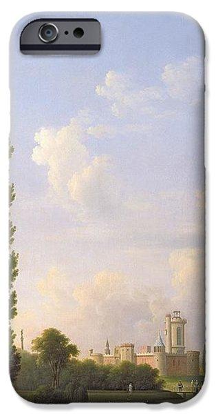Swans... iPhone Cases - Laxenburg Castle, Near Vienna, 1810 Oil On Canvas iPhone Case by Jean Bidauld