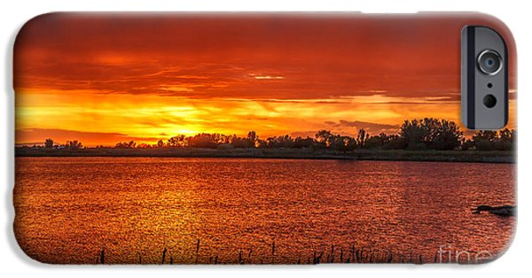 Emmett iPhone Cases - Layered Sunset iPhone Case by Robert Bales