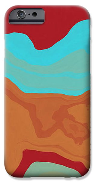 Abstract Forms iPhone Cases - Layers and Form 2 iPhone Case by David G Paul