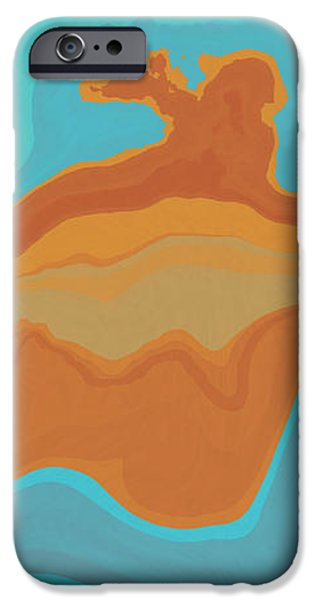 Abstract Forms iPhone Cases - Layers and Form iPhone Case by David G Paul