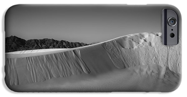 Sand Dunes iPhone Cases - Layers of Dune iPhone Case by Peter Tellone