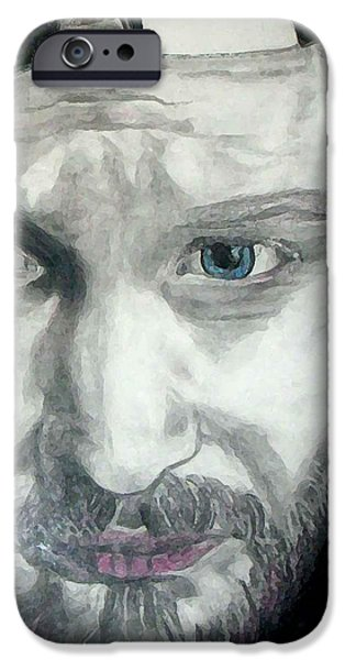 Staley Mixed Media iPhone Cases - Layne Staley iPhone Case by Art by Kar