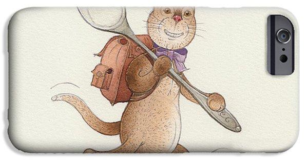 Cat Drawings iPhone Cases - Lazy Cats06 iPhone Case by Kestutis Kasparavicius