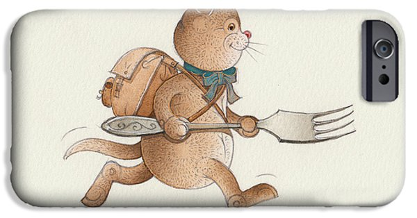 Cat Drawings iPhone Cases - Lazy Cats07 iPhone Case by Kestutis Kasparavicius