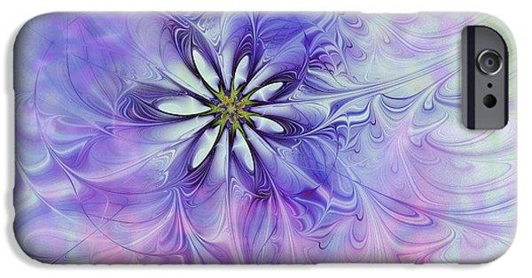 Floral Digital Art Digital Art iPhone Cases - Lazy Daisy iPhone Case by Amanda Moore