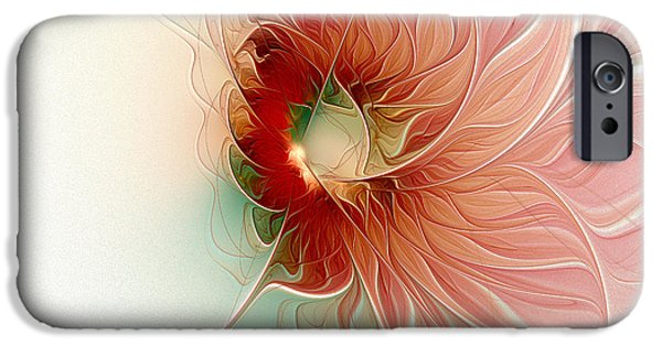 Floral Digital Art Digital Art Digital Art iPhone Cases - Lazy Daisy II iPhone Case by Amanda Moore