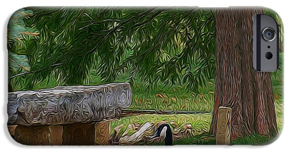 Pathway Mixed Media iPhone Cases - Lazy Ducks iPhone Case by Julie  Grace