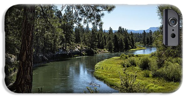 Deschutes River iPhone Cases - Lazy River - Deschutes River iPhone Case by Belinda Greb