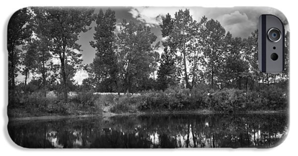 Field. Cloud Mixed Media iPhone Cases - Lazy Summer Day BW iPhone Case by Angelina Vick