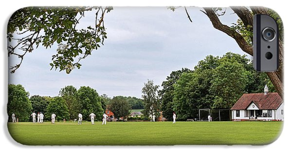 Interior Scene iPhone Cases - Lazy Sunday Afternoon - Cricket On The Village Green iPhone Case by Gill Billington