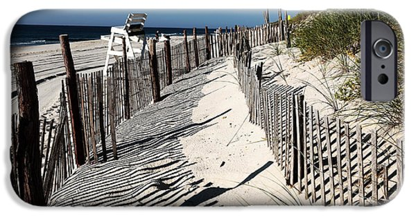 Old School Galleries iPhone Cases - LBI Dunes iPhone Case by John Rizzuto