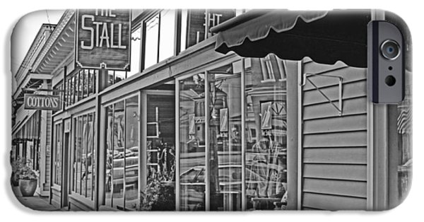 Town iPhone Cases - LC Store Front BW iPhone Case by Brad Walters