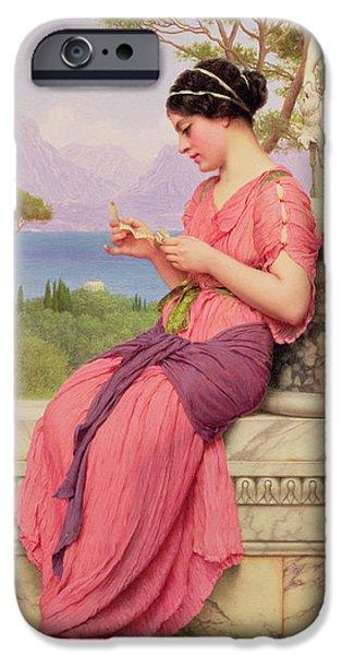 Greek Sculpture iPhone Cases - Le Billet Doux iPhone Case by John William Godward