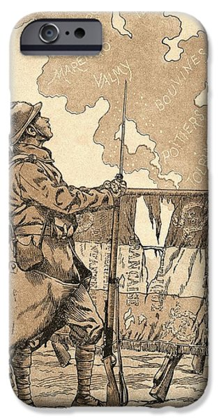 World War One Photographs iPhone Cases - Le Bleuet. Symbol Of Memory And Solidarity In France, For Veterans And Victims Of The First World iPhone Case by Bridgeman Images