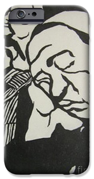 Couple Reliefs iPhone Cases - Le Couple iPhone Case by Yoshie Ochiai