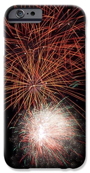 Fireworks iPhone Cases - LE Fireworks 3 iPhone Case by Paul Howarth