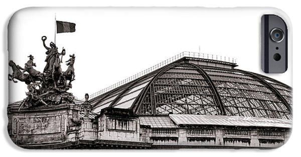 Historic Site iPhone Cases - Le Grand Palais iPhone Case by Olivier Le Queinec