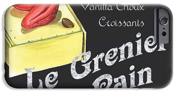 Fresh Produce iPhone Cases - Le Grenier a Pain iPhone Case by Debbie DeWitt