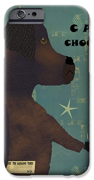 Canine Prints Digital iPhone Cases - Le Lab Chocolat iPhone Case by Bri Buckley