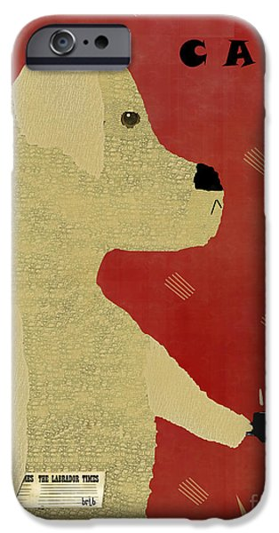 Canine Prints Digital iPhone Cases - Le Lab Yellow  iPhone Case by Bri Buckley