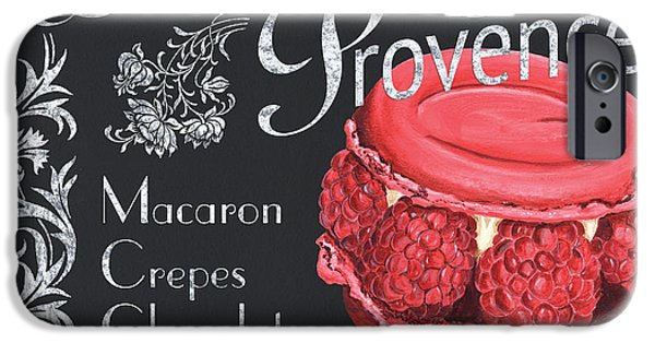 Graphic Design Paintings iPhone Cases - Le Macron de Provence iPhone Case by Debbie DeWitt