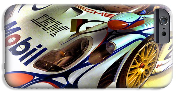 Circuit Photographs iPhone Cases - Le Mans 1998 Porsche 911 GT1 iPhone Case by Olivier Le Queinec