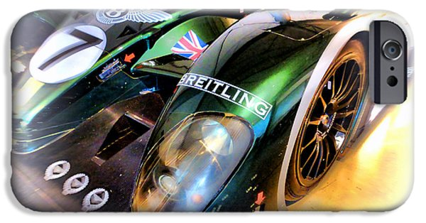Circuit iPhone Cases - Le Mans 2003 Bentley Speed 8 iPhone Case by Olivier Le Queinec