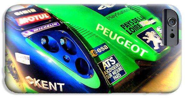 Circuit iPhone Cases - Le Mans 2009 Peugeot 908 HDI FAP iPhone Case by Olivier Le Queinec