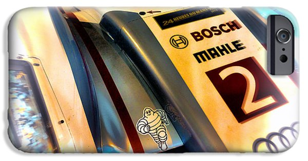 Circuit iPhone Cases - Le Mans 2013 Audi E-Tron Quatro R18H iPhone Case by Olivier Le Queinec