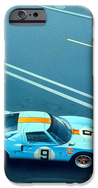 Racecourse iPhone Cases - Le Mans 68 iPhone Case by MGL Meiklejohn Graphics Licensing