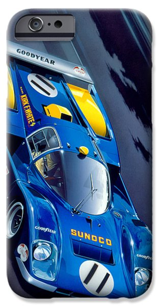 Racecourse iPhone Cases - Le Mans 71 iPhone Case by Gavin Macloud