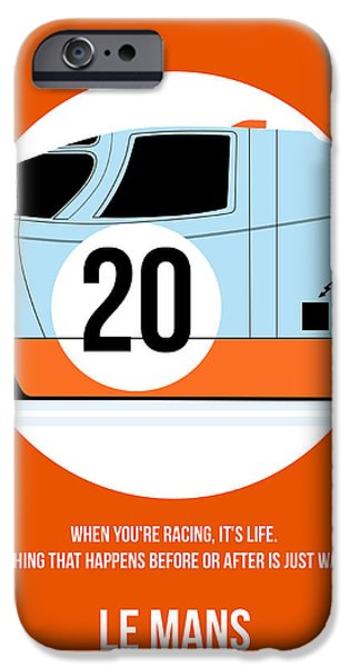 Steve Mcqueen iPhone Cases - Le Mans Poster 2 iPhone Case by Naxart Studio