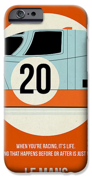 Steve Mcqueen iPhone Cases - Le Mans Poster iPhone Case by Naxart Studio
