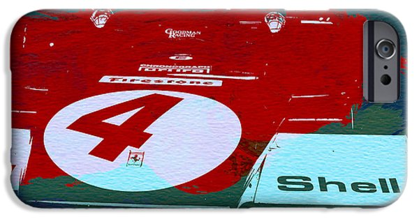 Racing Photographs iPhone Cases - Le Mans Racing Car Detail iPhone Case by Naxart Studio