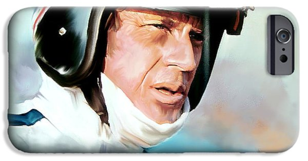 Steve Mcqueen iPhone Cases - Le Mans Steve McQueen iPhone Case by Iconic Images Art Gallery David Pucciarelli