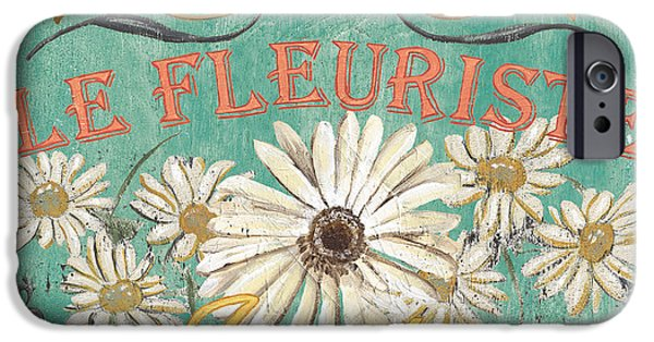 Sign iPhone Cases - Le Marche aux Fleurs 6 iPhone Case by Debbie DeWitt