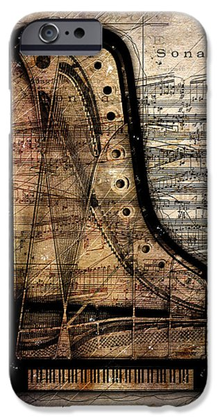 Grand Piano iPhone Cases - Le Pianoforte  iPhone Case by Gary Bodnar