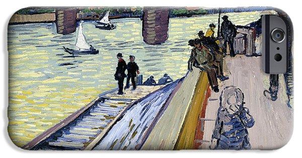 Vincent iPhone Cases - Le Pont de Trinquetaille iPhone Case by Vincent van Gogh