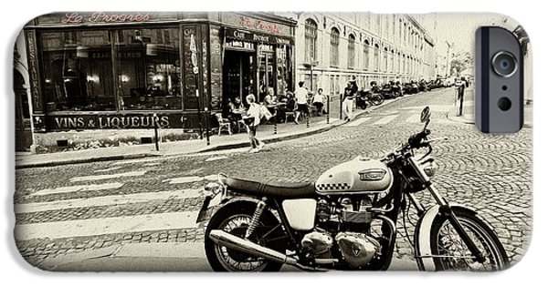Velo iPhone Cases - Le Progres Triumph  iPhone Case by Rob Hawkins
