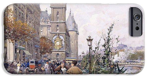 Vendor iPhone Cases - Le Quai aux Fleurs and Hotel iPhone Case by Eugene Galien-Laloue