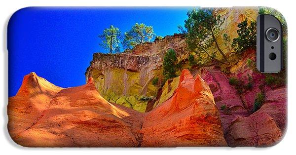 Painter Photo Photographs iPhone Cases - Le Sentier des Ocres Roussillon France iPhone Case by Jeff Black