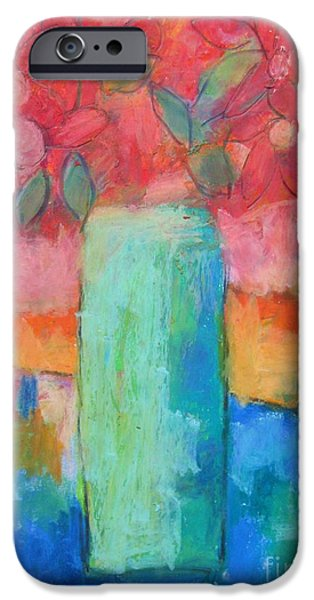 Interior Still Life Pastels iPhone Cases - Le Vase Jardin iPhone Case by Venus