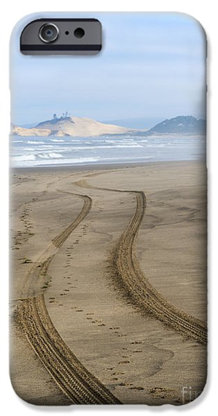 Sand Dunes iPhone Cases - Leading to the Cape iPhone Case by Mike Dawson