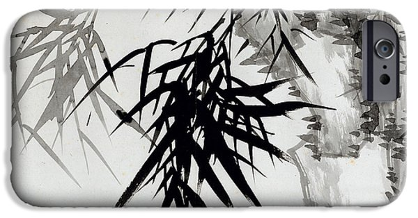 19th Century Drawings iPhone Cases - Leaf E iPhone Case by Rang Tian